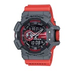 Genuine Casio G-Shock GA-400-4BER Analog-Digital Watch with rotary switch - Grey and Red Band