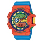 Genuine Casio G-Shock GA-400-4AER Analog & Digital Watch with Rotary Switch - Orange + Blue Band