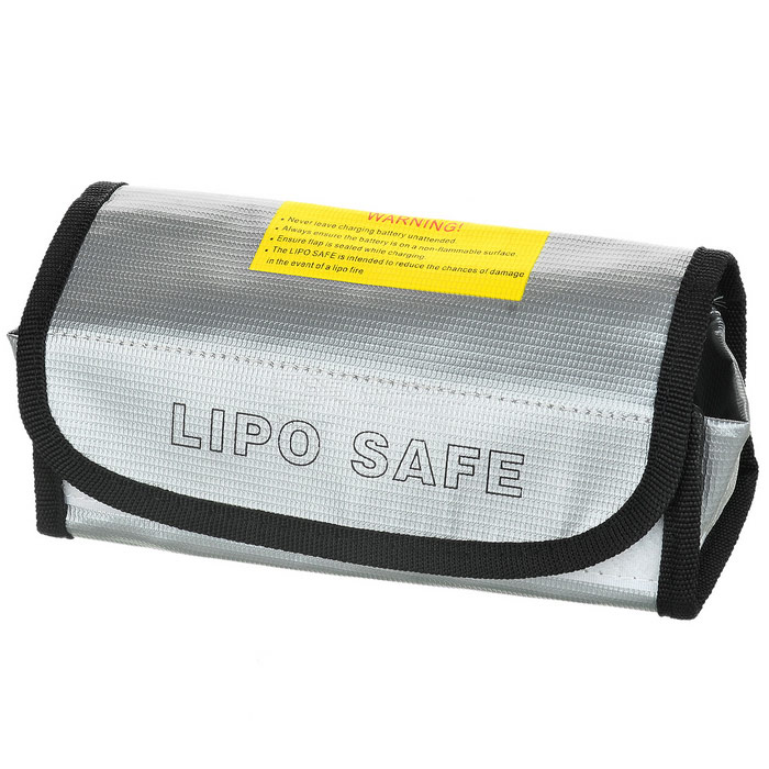 Protective Explosion-proof Battery Storaging Glass Fiber Bag - Silver