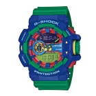 Genuine Casio G-Shock GA-400-2AER Analog & Digital Watch with Rotary Switch - Blue + Green Band