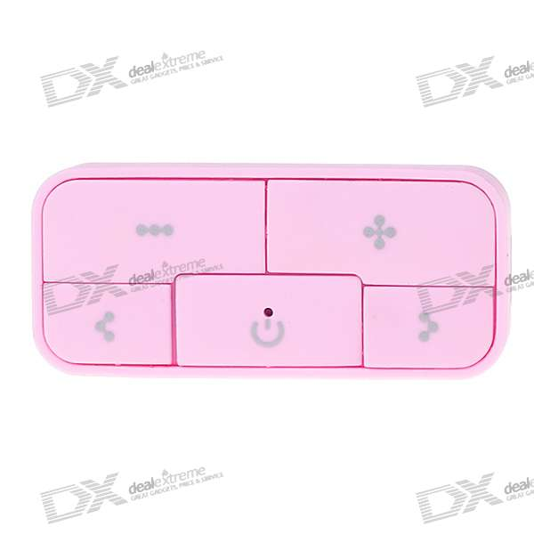Charming Rechargeable MP3 Player - Pink (4GB)