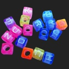 Creative DIY Square Shaped Letters Beads Braided Bracelet - Multicolor