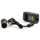 DC 12V 2A US-Plug Car Cigarette Lighter Socket Power Adapter - Black