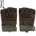 Sports Cycling Hunting Military Tactical Anti-Slip Half-Finger Gloves - Army Green (XL / Pair)