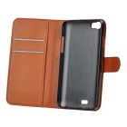 PU Case w/ Stand for WIKO Highway - White + Brown + Black (3PCS)