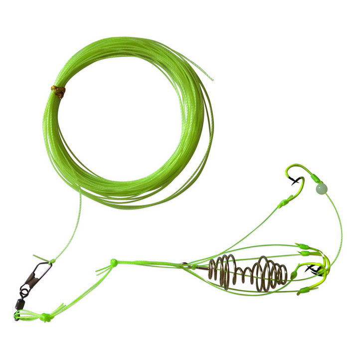 Nylon Fishing Line w/ Explosion Hooks - Green