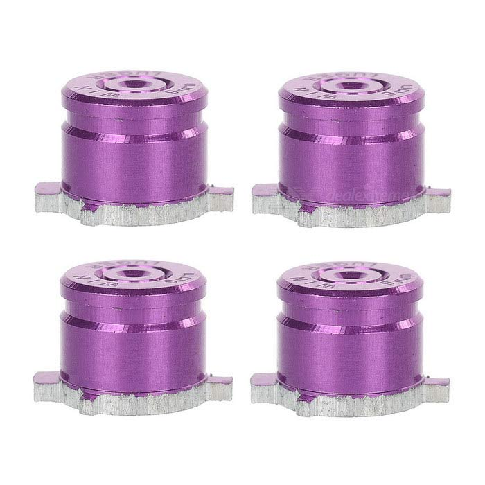 4-in-1 Universal Metal Buttons Keys for PS3 / PS4 / PS3 Slim - Purple