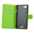 PU Case w/ Magnetic Buckle for Sony - Purple + Green + Red (3 PCS)