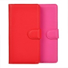 Lichee Pattern PU Case w/ Stand & Card Slots for Huawei P8 - Red + Deep Pink (2 PCS)
