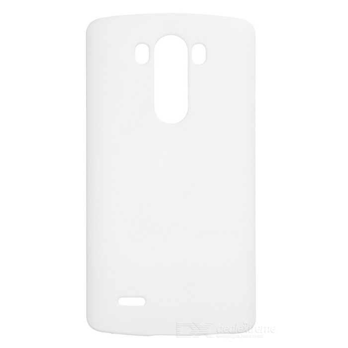 Mini Smile Matte Protective ABS Back Case for LG G4 - White