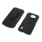 Stripy ABS Back Case for Samsung Galaxy S6 Active / G890 - Black