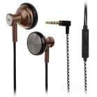 SUR S1636 Hi-Fi Mega Bass In-Ear Earphone w/ Remote / Mic - Coffee (3.5mm)