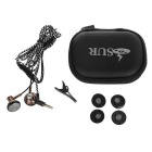 SUR S1636 Hi-Fi Mega Bass 3.5mm In-Ear Earphone w/ Remote, Mic- Coffee