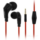 JBMMJ MJ720 Flat 3.5mm Wired In-Ear Earphones w/ Mic. - Red (120cm-cable)