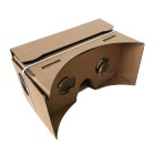 "DIY Google Cardboard + Resin Lens Virtual 3D Glasses w/ NFC, Magnet for 3.5~6"" Cellphones - Khaki"