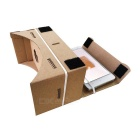 "DIY Cardboard VR 3D Glasses w/ NFC, Magnet for 3.5~6"" Phone - Khaki"