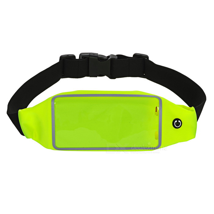 Touch Screen Water-proof Sports Phone Waist Bag - Fluorescent Green
