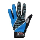 Moke anti-choque touch-screen full-dedo luvas de ciclismo - azul (l)