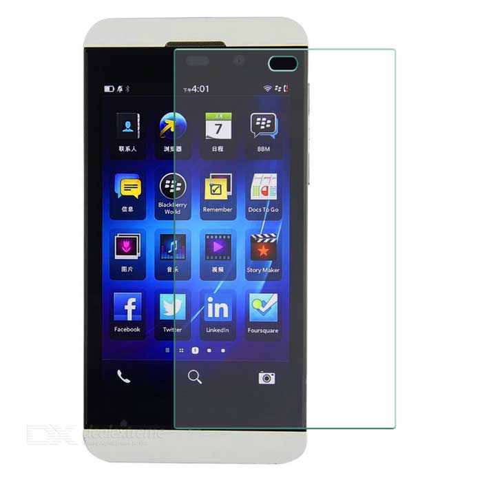 9H Clear Tempered Glass Screen Protector Guard for BlackBerry Z10 - Transparent