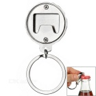 Creative Beer Bottle Cap Design Zinc Alloy + Stainless Steel Bottle Opener Keyring Keychain - Silver