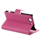 PU Case w/ Card Slots for Sony Z4 Compact - Red + Deep Pink (2PCS)