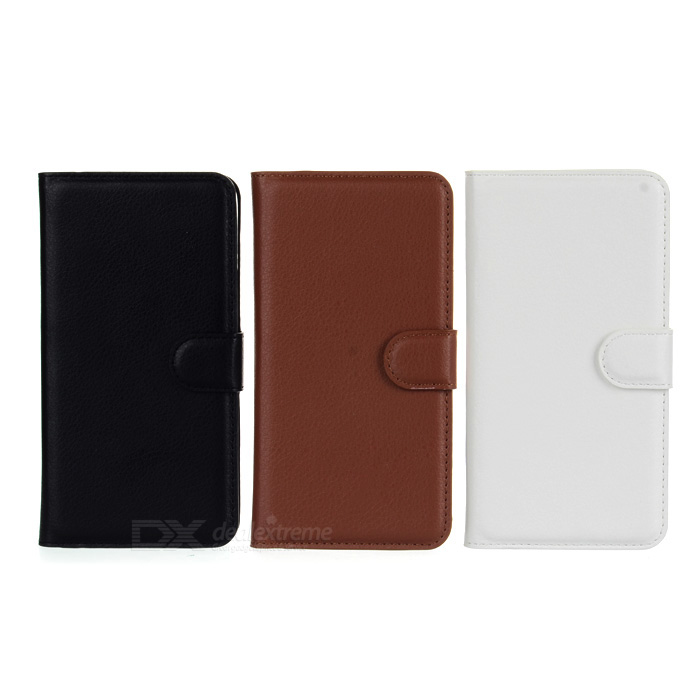 PU Case w/ Stand for WIKO Highway - Black + White + Brown (3PCS)