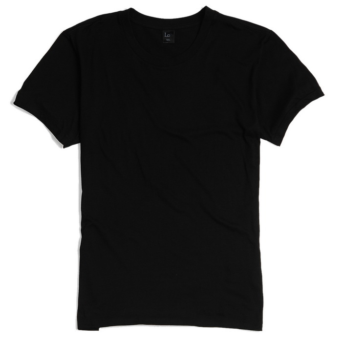 Men 39 s simple short sleeved round neck plain t shirt for T shirt plain black