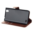 PU Case w/ Stand for Huawei G630 - Brown + White + Black (3PCS)