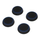 Gamepad Thumb Stick Caps Covers for PS4 & More - Black + Blue (4PCS)