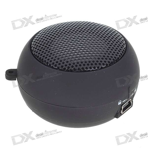 Ultra Mini USB Rechargeable Portable Speaker - Black (3.5mm/DC 5V)