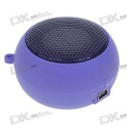 Ultra Mini USB Rechargeable Portable Speaker - Purple (3.5mm/DC 5V)