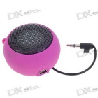 Ultra Mini USB Rechargeable Portable Speaker - Charming Pink (3.5mm/DC 5V)