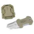 FURA Outdoor Portable Survival Knife w/ Strap / Sheath - Army Green