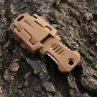 FURA Outdoor Sports Portable Survival Knife w/ Strap / Sheath - Khaki