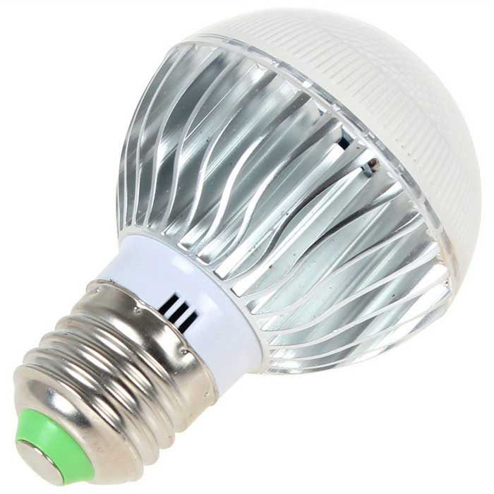 E27 3W Remote Control Dimmable RGB LED Bulb + 24-Key ...