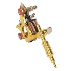 GS100 Fashionable Mini Tattoo Machine Pendant Toy w/ Chain - Golden