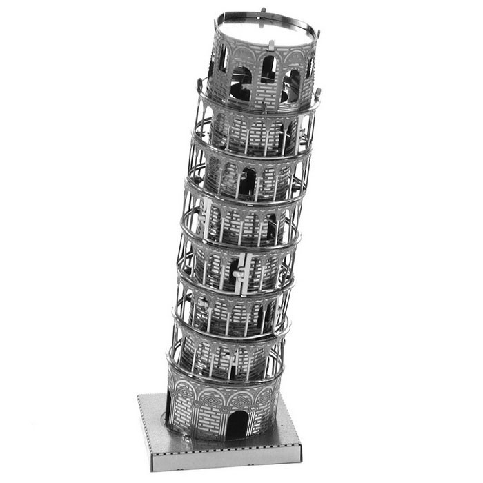 "Models Metallic ""The Leaning Tower of Pisa"" Nano Puzzle - Silver"