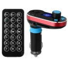"1.1"" LCD Bluetooth V2.1 MP3 Player / FM Transmitter Handsfree Car Kit - Black + Red"
