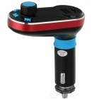 JEDX Bluetooth V2.1 Handsfree Car FM Transmitter - Black + Red