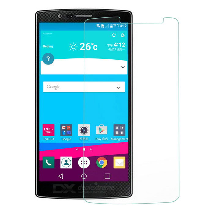 Mini Smile Clear PET Screen Guard Film for LG G4 - Transparent (5PCS)