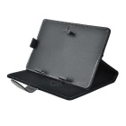 "Litchi Pattern Protective PU Case Cover for 7"" Tablet PC - Black"