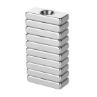 Buy Rectangle Shaped 20*10*4mm NdFeB Magnets Hole - Silver (10PCS)