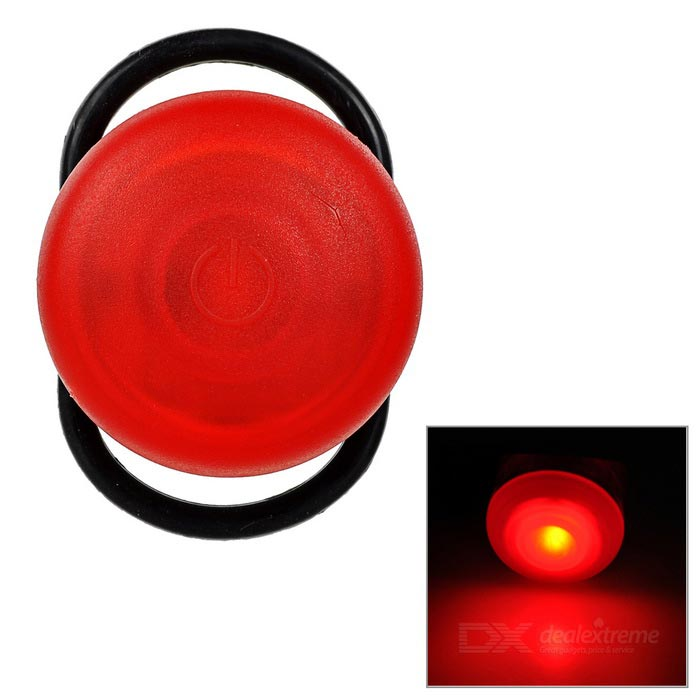 1-LED Bike / Mountain Bike Tail / Warn Light Red Light 3-Mode - RedBike Light<br>Form ColorRedQuantity1 DX.PCM.Model.AttributeModel.UnitMaterialPlastic + siliconeColor BINRedNumber of Emitters1Battery2 x CR2032 (included)Battery included or notYesNumber of Modes3Mode ArrangementHi,Slow Strobe,Fast StrobeSwitch TypeForward clickySwitch LocationHeadStrap/ClipNoApplicationBody,Seat Post,Handle BarHolder Diameter3~6 DX.PCM.Model.AttributeModel.UnitWaterproofYesPacking List1 x Bike light<br>
