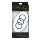 3-Coil QI Wireless Charger for Samsung S6 Edge + More - White + Grey
