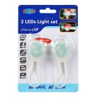 Tadpole estilo multi-color 2-LED luz moto de advertência - branco (2PCS)