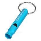 NatureHike Outdoor Sports Aluminum Alloy Whistle w/ Keyring - Blue