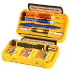 Kaisi K-P3024A 24-in-1 Multifunction Repairing Screwdriver Set for Mobile Phones - Yellow