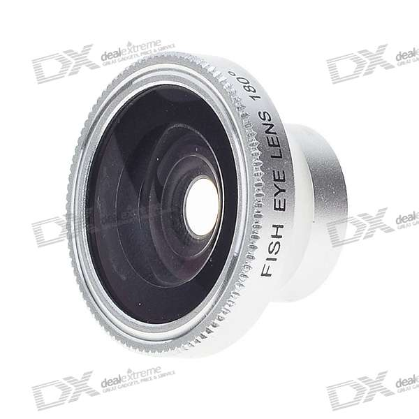 15mm Detachable 180-Degree Wide Angle Fish Eye Lens for Cell Phones and Compact Digital Cameras