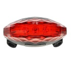 5-LED 7-Mode Red + 2-Laser Red Bike Safety Tail Light Lamp - Red