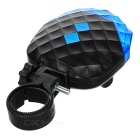 5-LED 7-Mode Blue + 2-Laser Vermelho Bike Safety Tail Light Lamp - Azul